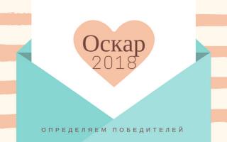 Фильмы, получившие Оскар 2018: список фильмов, завоевавших награду
