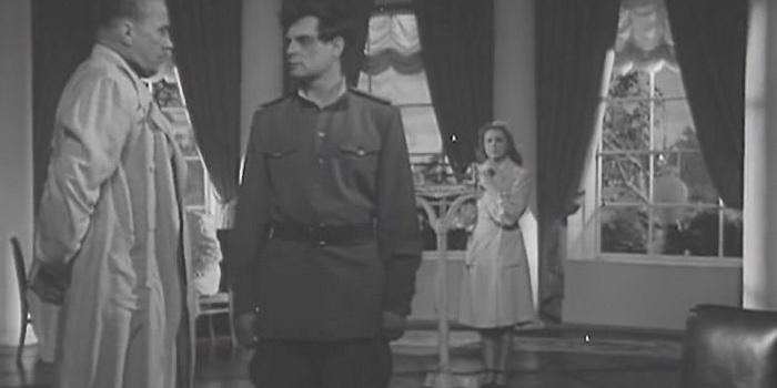 Кадр из ч/б фильма Повесть о настоящем человеке (1948)