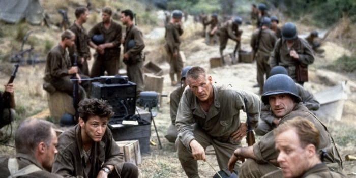 Постер из фильма Тонкая красная линия 1998 года