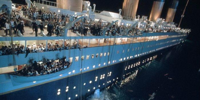 Фото крушение Титаника в фильме