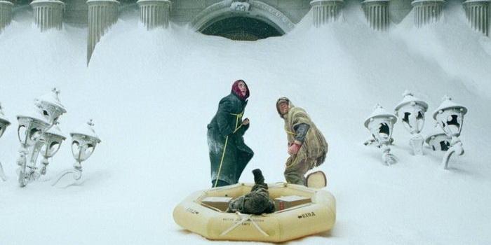 Кадр из фильма-катастрофы Послезавтра (2004)