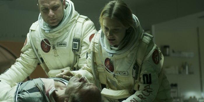 Главные герои из кинофильма Последние дни на Марсе(2013)
