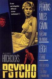 Постер к старому фильму Психо (1960)