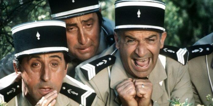 Главные персонажи в комедии Жандарм на отдыхе (1970)