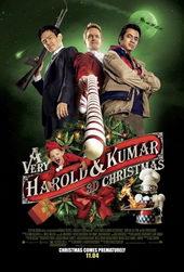Постер к фильму Убойное Рождество Гарольда и Кумара (2011)