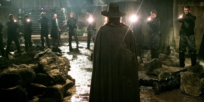 сцена из фильма «V» значит Вендетта (2006)