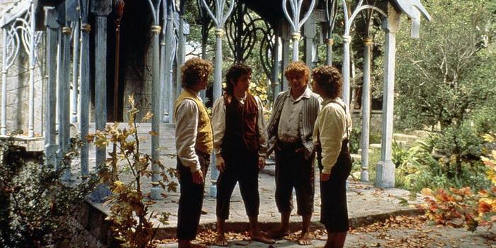 сцена из фильма Властелин колец: Братство кольца (2001)