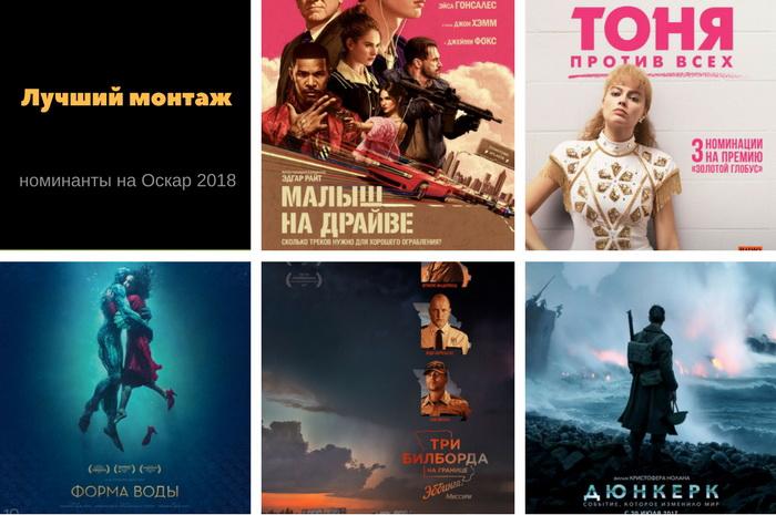 Фильмы номинированные на оскар 2018