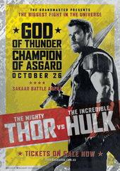 плакат к фильму Тор: Рагнарёк (2017)
