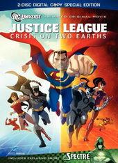 афиша к мультфильму Лига справедливости: Кризис двух миров (2010)