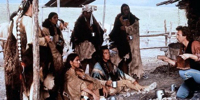 Кадр из фильма Танцующий с волками 1990 года