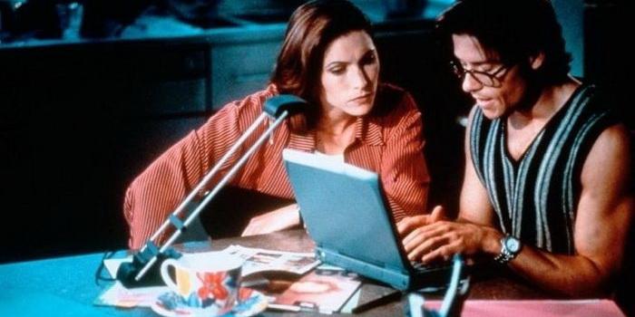 Кадр из старого фильма Их поменяли телами (1996)