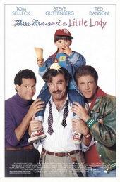 Афиша к комедии Трое мужчин и маленькая леди (1990)