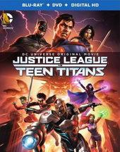 плакат к фильму Лига справедливости против Юных Титанов (2016)