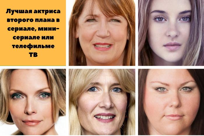актрисы второго плана в мини-сериалах золотого глобуса 2018