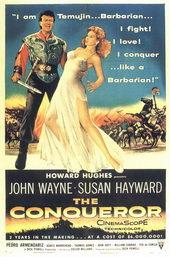 плакат к фильму Завоеватель (1956)