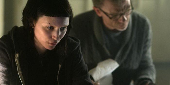 сцена из фильма Девушка с татуировкой дракона (2012)